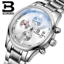 Suíça Binger Relógios De Pulso Homens Marca de Luxo Mergulho de Lazer Relógios Esporte Militar Genuínos Homens Relógio de Quartzo Relogio masculino