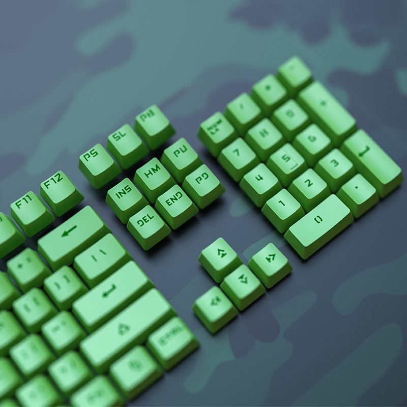 104 ABS Backlight Keycap OEM Height Crystal Green Gaming Machanical Keyboard Keycap(China)