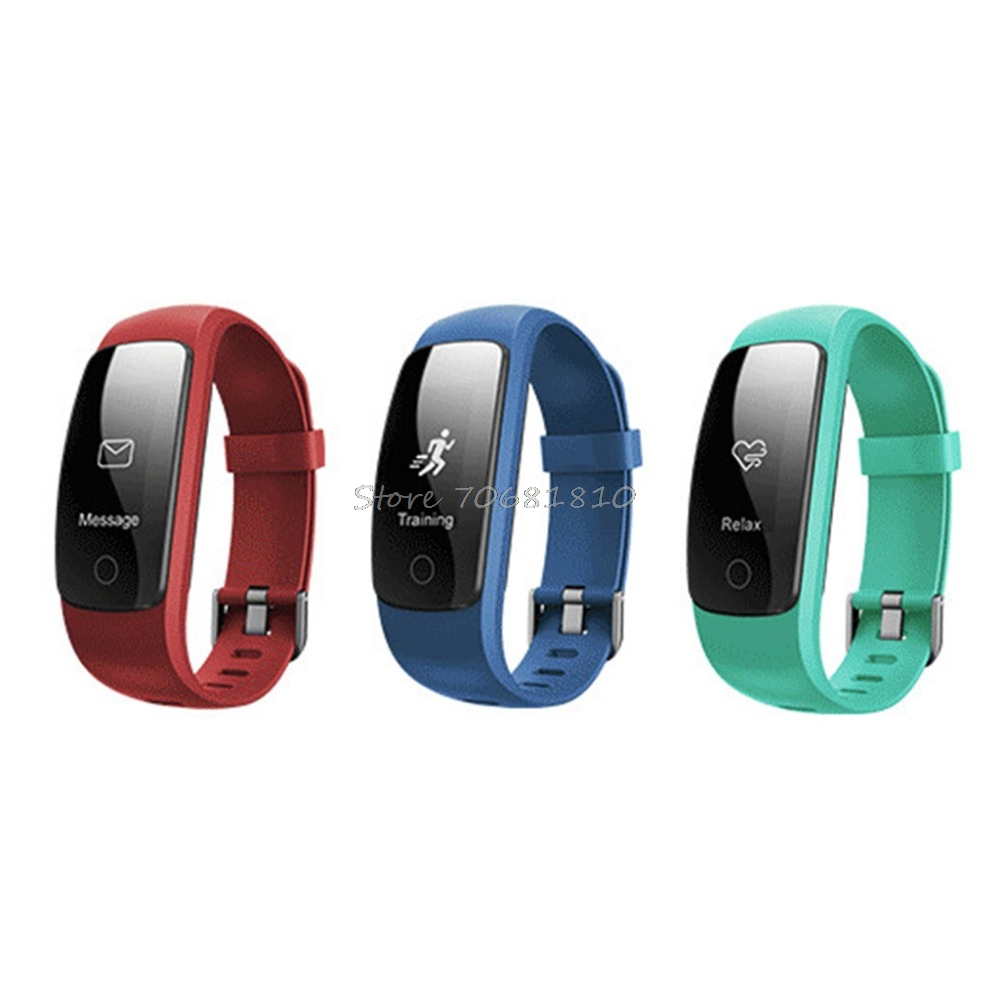 For ID107 Plus HR Heart Rate Bluetooth 4 0V Bracelet Monitor Pedometer SportWristband Health Fitness Tracking