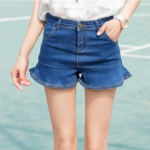 2017 Qiyan Brand Summer Women Jeans Denim Skirt Button Vintage  Pantskirt  Female Fashion Casual 26-32 Size