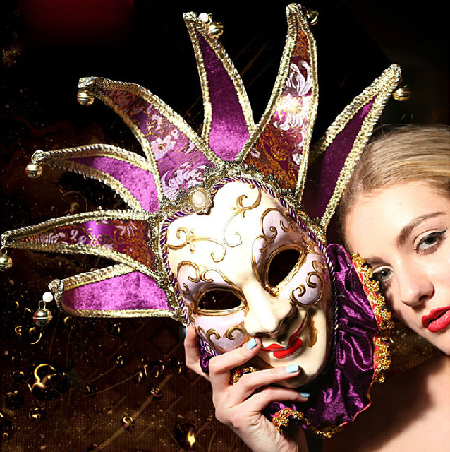 new arrival the store top one product venetian jester joker vintage resin costume ball masquerade