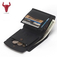 Top Famous Brand Cowhide Genuine Leather Men Wallet Male Purse Fashion Design Card Holder Coin Pocket