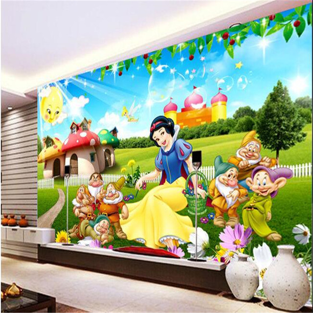 Murals Wallpaper Fairy Tale World Animation Character Girl Princess Room  Kindergarten Decoration Large Wall Mural Wallpaper