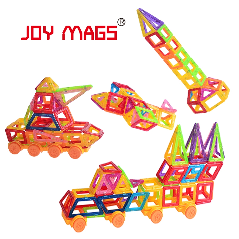 JOY MAGS Mini Magnetic Building Blocks 80/90 Pieces/lot Magnetic Construction Toys Local Delivery Fast Shipment 150pcs joy mags brand magnetic tiles models blocks diy building toys inspire adult