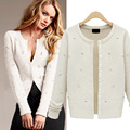 The new 2016 European and American fashion loose sweater coat Sweater long-sleeved cardigan