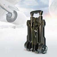 Car Travel Luggage Cart Universal Folding Trolley Cart Shopping Carrier Auto Retractable Trailer For KIA RIO