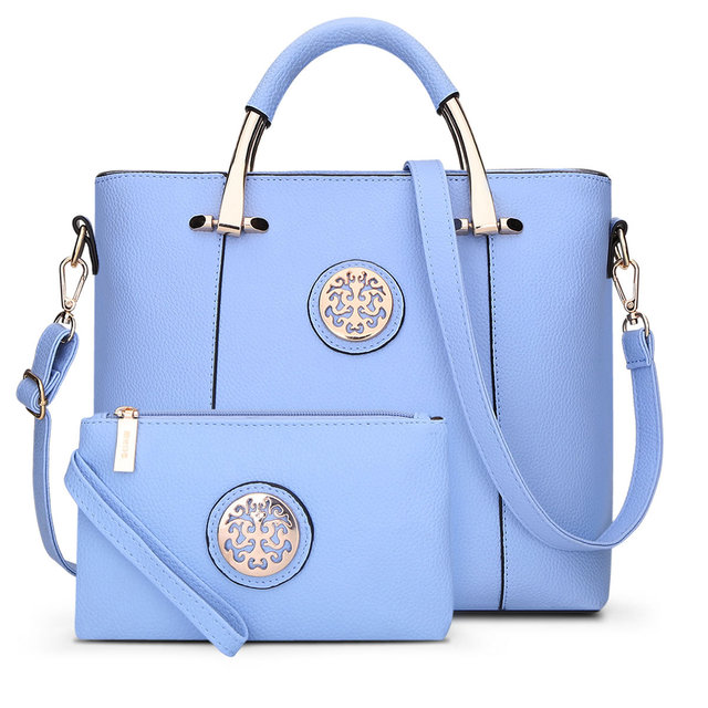 2017 New 2 Bags/Set European And American Style Women Tote Bag Brand Designer Women Messenger Shoulder Bags Handbag And Purse