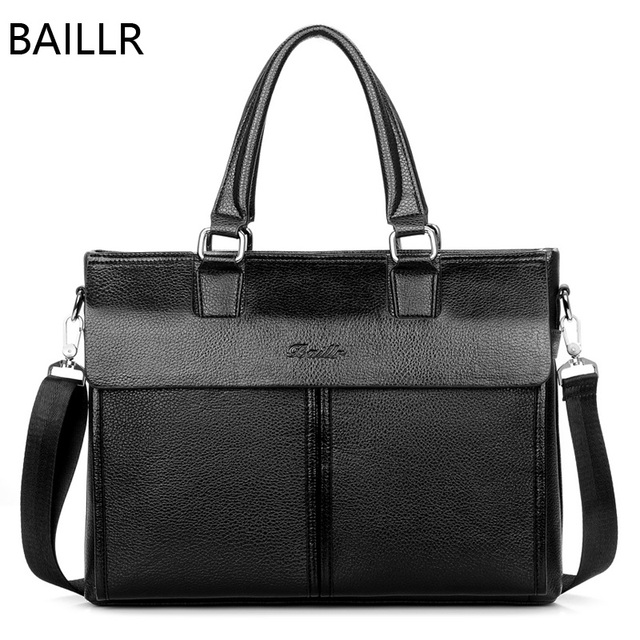 Man Office Bag Brown Leather Briefcase Business 14 Inch Laptop Crossbody Bags For Men