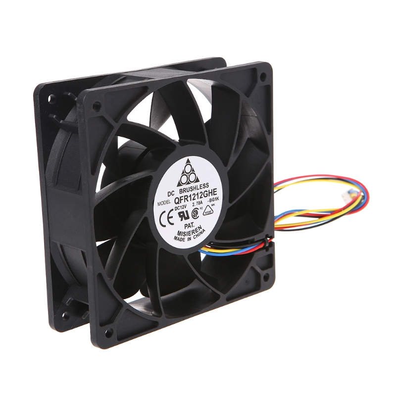Computer & Office High Speed Cooling Fan 120x120x38mm Brushless Dc12v 2.7a 7-blade Cooling Fan 12038 For Delta Qfr1212ghe Do You Want To Buy Some Chinese Native Produce? Computer Components