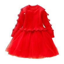 2019New Kids Clothes Girls Dress For Wedding Party Dresses Winter Spring Kids Girls Clothes Childern Princess Dress 2 3 4 5 6 7T комплект одежды для мальчиков kids clothes 2015 2 6 girls clothes