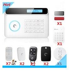 Inteligentne DIY Alarm 433Mhz Etiger S4 bezprzewodowy Alarm domowy Alarm antywłamaniowy zabezpieczenie GSM Alarm automatyki domowej systemu alarmowego strona z App w Zestawy systemów alarmowych od Bezpieczeństwo i ochrona na