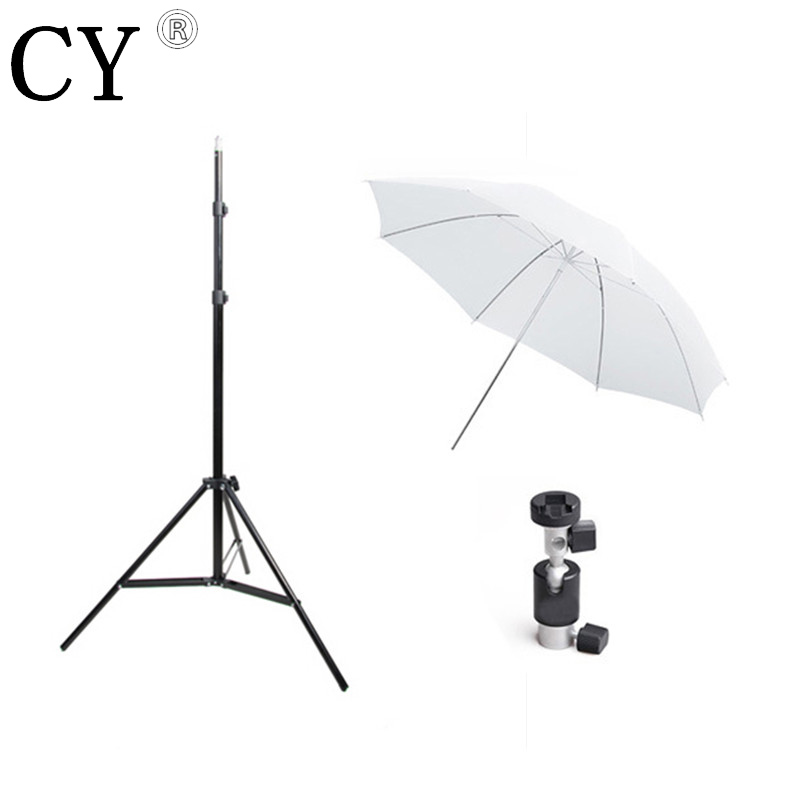 Lightupfoto Photo Studio Light Stand Flash Mount Ball Head Set Studioo Umbrella With Light Stand PSK2B
