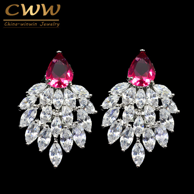92598a15e High Quality Designer Ladies Ear Jewelry Marquise Cluster Swiss Cubic  Zirconia Stone Earrings For Christmas Gift CZ295