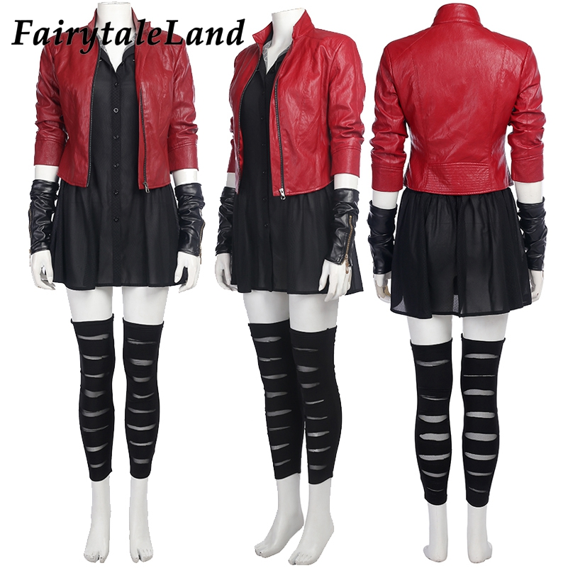Avengers Age of Ultron cosplay costumes Carnival Halloween Cosplay Wanda Maximoff Scarlet Witch Costume for adult women