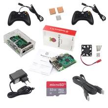 Малина Pi игровой комплект Raspberry Pi 3 + 2 игровой контроллер + 32 ГБ SD Card + Адаптеры питания + акрил Чехол + кабель HDMI + радиатор + вентилятор