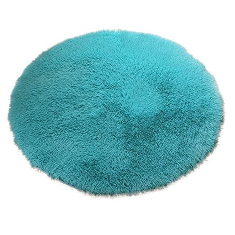 Living Room Bathroom Decor Anti-slip 40cm Diameter 4.5cm Thicken Round Floor Carpets Circle Mat Rug  New