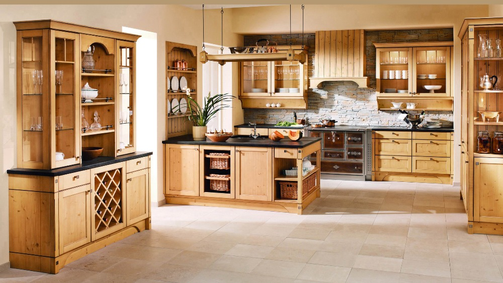 Amerika Lemari Dapur Kayu Wood Kitchen Cabinets American Wood Kitchen Cabinetkitchen Cabinet Aliexpress