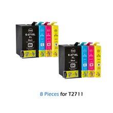 8 шт T2711 для Epson чернильных картриджей T2711 T2712 T2713 T2714 рабочей силы WF-7110 WF-7610 WF-7620 WF-3620 WF-3640 принтер 27 XL 27XL