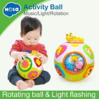 HUILE TOYS 938 Baby Toys Toddler Crawl Toy with Music & Light Teach Shape/Number/Animal Kids Early Learning Educational Toy Gift