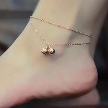 Girl Gold Breif Adjustable Women Double Bell Ankle Chain Anklet Foot Jewelry Sandal Beach Wholesale Good Quality Newest Style