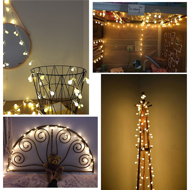 aliexpresscom buy 10m 100led string ball lights christmas fairy lights flasher lights led strip lamp sphere lighting for wedding party garland from - Christmas Sphere Lights