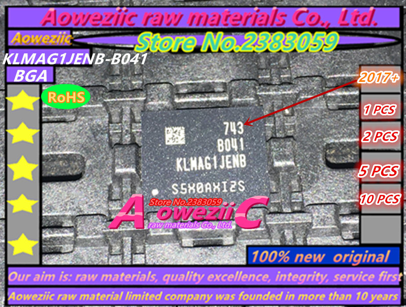 Aoweziic (1PCS) (2PCS) (5PCS) (10PCS)  100%  new original KLMAG1JENB-B041  BGA   memory chip   KLMAG1JENB B041 aoweziic 5pcs 100