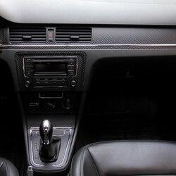 Samochód stylizacji Teeze wnętrza samochodu konsoli środkowej zmiana koloru z włókna węglowego naklejki naklejki dla VW Bora 2013- 2016