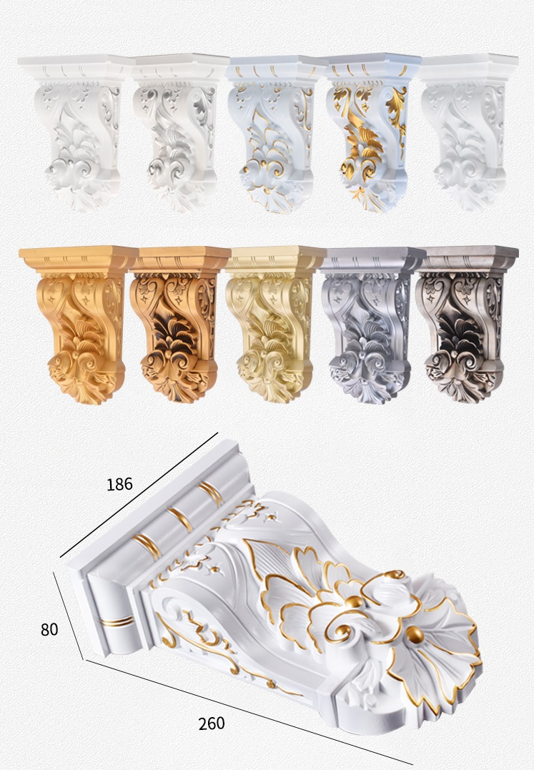European 26*18.6*8cm Plastic Corbel Corbels Architectural Furniture Decoration Gold Silver Antique Hand Painting European 26*18.6*8cm Plastic Corbel Corbels Architectural Furniture Decoration Gold Silver Antique Hand Painting