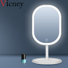 Vicney New smart beauty LED light makeup mirror touch led with single-sided desktop fill