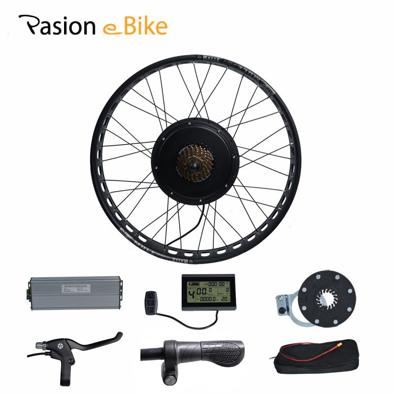 PASION E BIKE 48V 1000W Electric Bicycle Fat Bike Conversion Kit  26 Wheel Motor for 190mm Hub Motor pasion e bike 48v 500w electric fat bikes bicycle gear hub motor conversion kit bafang 190mm 26 rear wheel 80mm rims