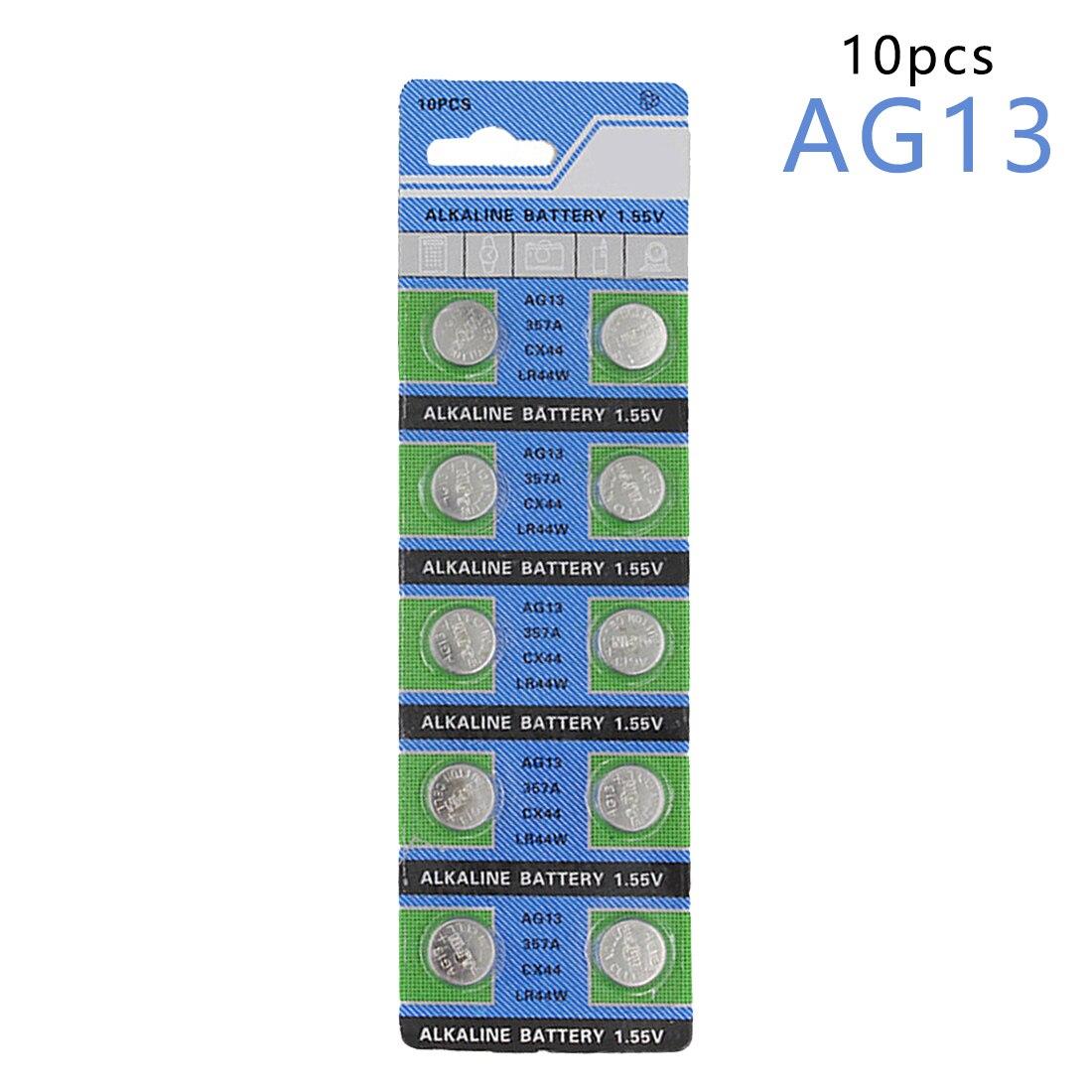 цена на Centechia Good Sale 10 Pcs AG13 LR44 357A S76E G13 Button Coin Cell Battery Batteries 1.55V Alkaline