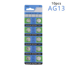 Centechia Good Sale 10 Pcs AG13 LR44 357A S76E G13 Button Coin Cell Battery Batteries 1.55V Alkaline(China)
