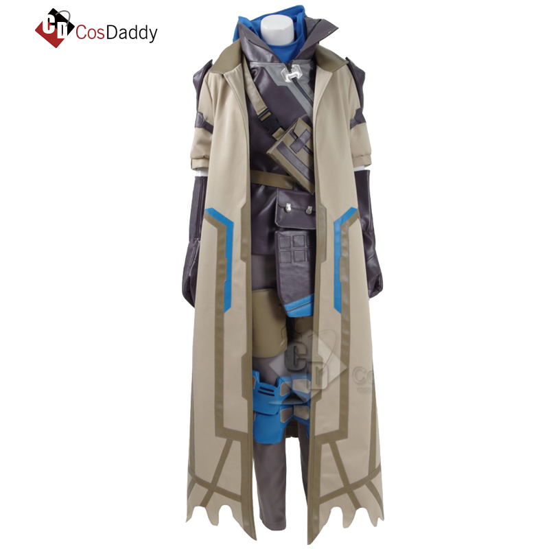 CosDaddy OW Ana Amari CosPlay Costume Leather Jacket  Full Set  hot Game made any size