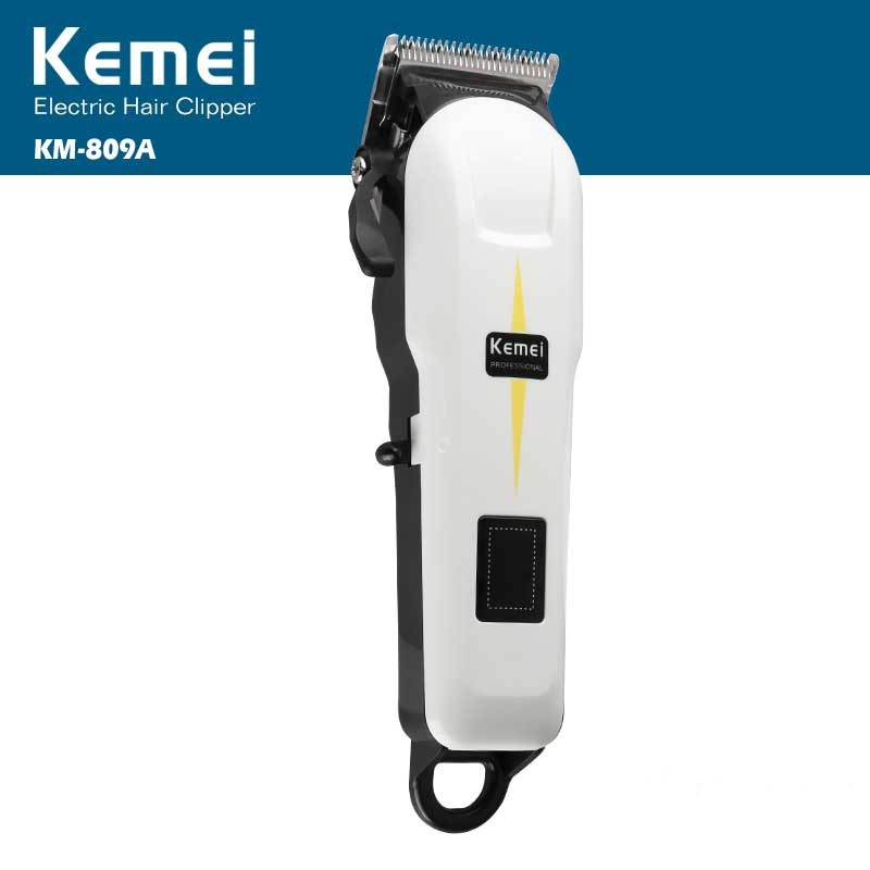 Kemei Rechargeable Electric Haircut Machine Professional LCD Display Hair Clipper Cordless Electric Hair Trimmer KM-809A image