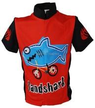 Jerseys de la bicicleta! nueva shark kids ciclismo jersey muchachos de la manga corta ciclismo ropa ciclismo bicicleta de carretera clothing clothing