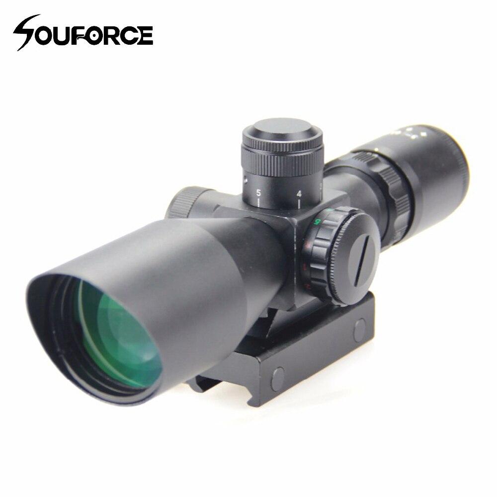 Тактический 3-9x40 зеленый/красный Mil точка Сетка прицел Водонепроницаемый оптический прицел с Nitroge для охоты страйкбол