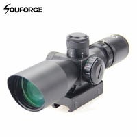 Tactical 3 9x40 Green/Red Mil Dot Reticle Riflescope Waterproof Optical Sight Scope Riflescope with Nitroge for Hunting Airsoft