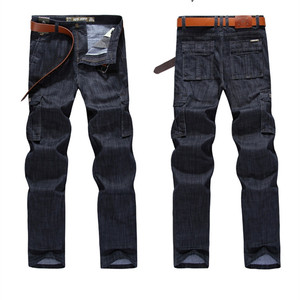 Image 2 - Cargo Jeans Men Big Size 29 40 42  Casual Military Multi pocket Jeans Male Clothes  2019 New High Quality