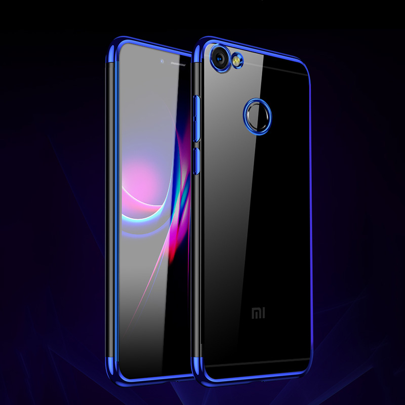 Soft Redmi 4X Case For Xiaomi Redmi 4X Cases Silicone Plated Clear Transparent Fundas For Xiaomi Redmi 4X Cover Coque Capa in Fitted Cases from Cellphones Telecommunications