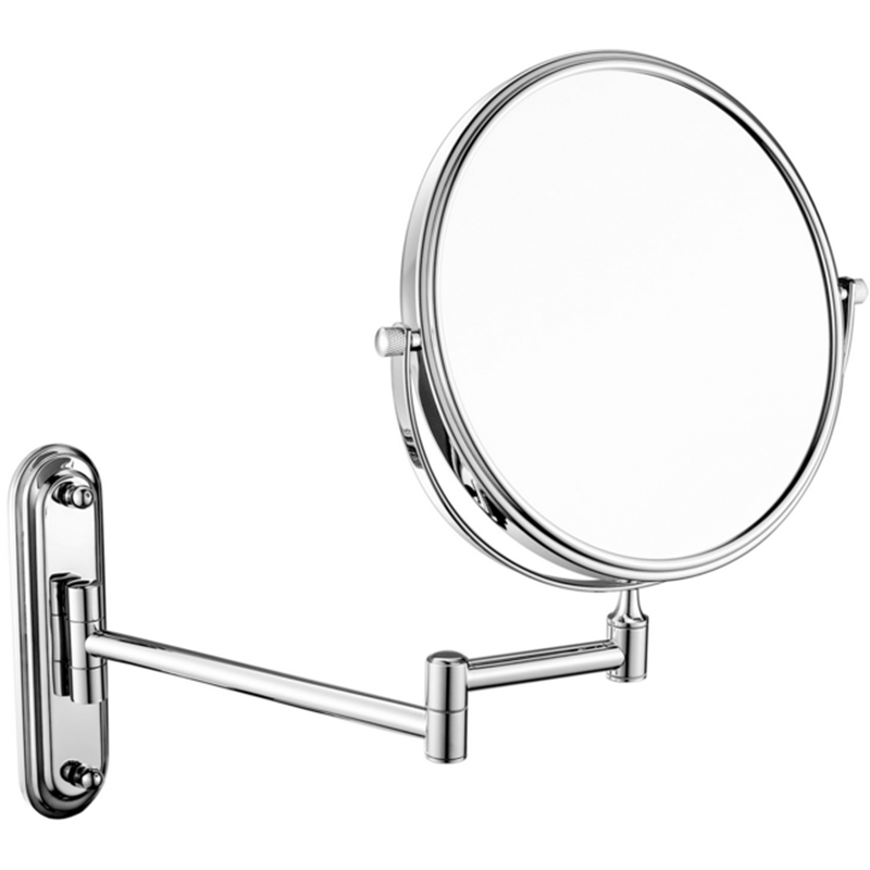 Charmant Bathroom Wall Retractable Folding Magnification Mirror Beauty Makeup Double  Sided Shaving Mirror,Times Magnifying Glass Effect.