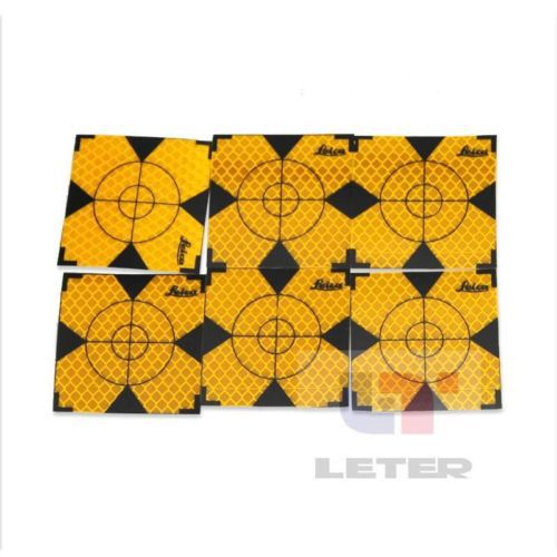 200pcs Yellow Reflector Sheet 40 x 40 mm Reflective Target for Total Station цены