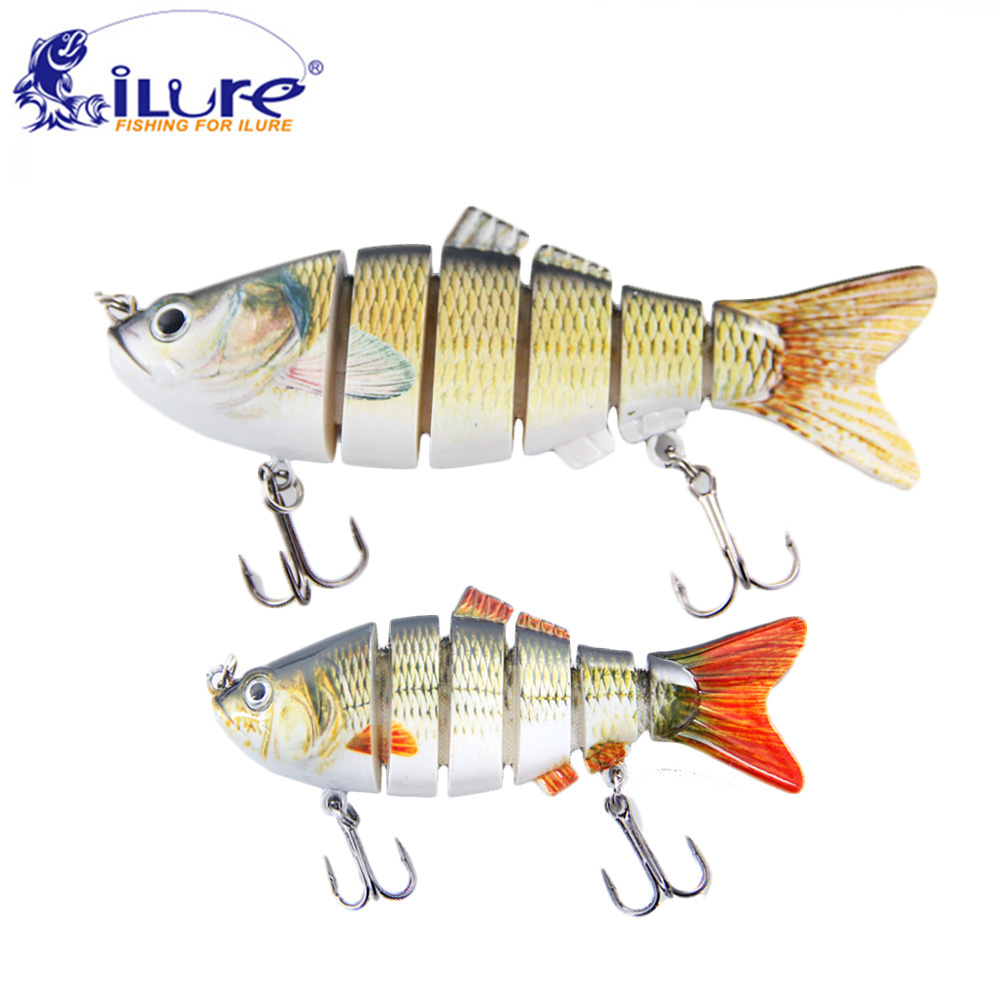 iLure Fishing Wobbler 6 Segments 10cm/15cm Swimbait Crankbait Fishing Bait Artificial Para Pesca Bait Peche Harten bait jig carp 15 5cm 15 3g wobbler fishing lure big minnow crankbait peche bass trolling artificial bait pike carp kosadaka free fishing