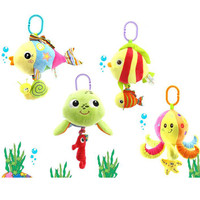 Soft Stuffed Sea Animal Plush Baby Toys Rattles Cartoon Hanging Lovely Musical Toys Octopus Turtles Tortoises