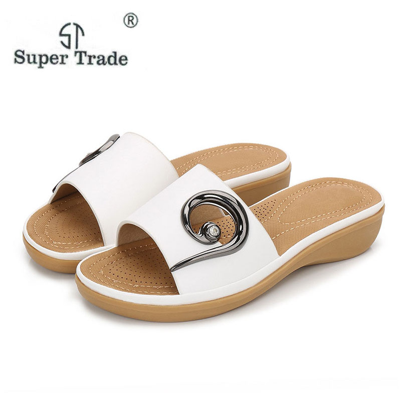 Spring & Summer New Flat Women Summer Sandals 2018 New Summer Women'S Sandals And Slippers Casual Daily Wear With Sandals