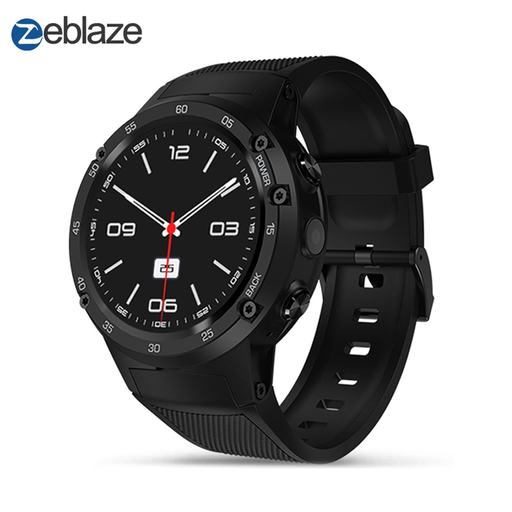 Zeblaze THOR 4 4G LTE GPS SmartWatch Phone Android 7.0 MTK6737 Quad Core 1GB+16GB 5.0MP 580mAh 4G/3G/2G Data Call Watch Men vernee thor 4g lte 5 0inch hd android 6 0 3gb 16gb smartphone
