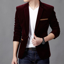 Men's Fashion Velvet Blazer (3 Colors)