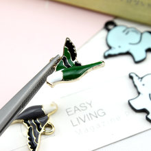 Korea Alloy Cute Bird Elephant Earrings for Women Material Animal Bracelet Necklace Pendant For Girls DIY jewelry accessories(China)