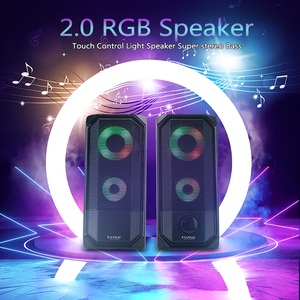 Image 2 - New Colorful Lights Computer Speaker 2.0 RGB Speaker Touch Control Light Portable Mini Speaker Super stereo Bass For Home Play