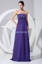 free shipping 2014 hot seller new design purple mermaid dress chiffon big size cheap customize color ready to ship evening