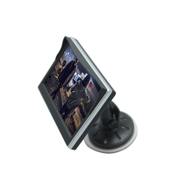 5 Pulgadas TFT LCD Monitor Del Coche Cámara del Revés de La exhibición de DVD de $ number canales de entrada de vídeo HD 800x480